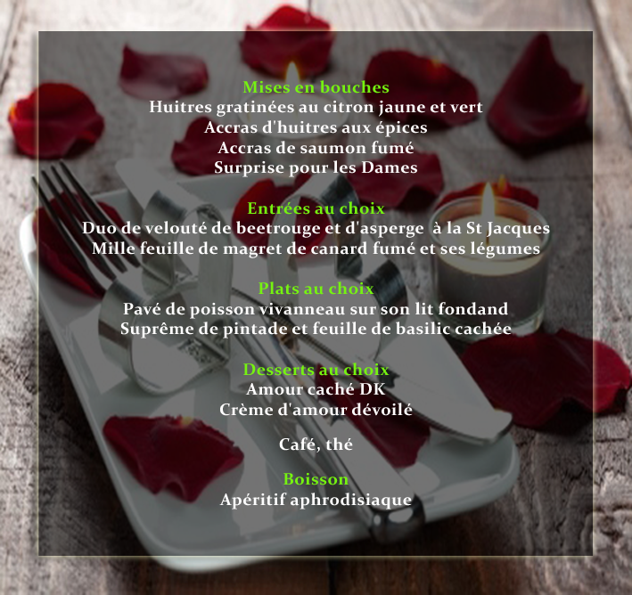 Menu Saint Valentin 5