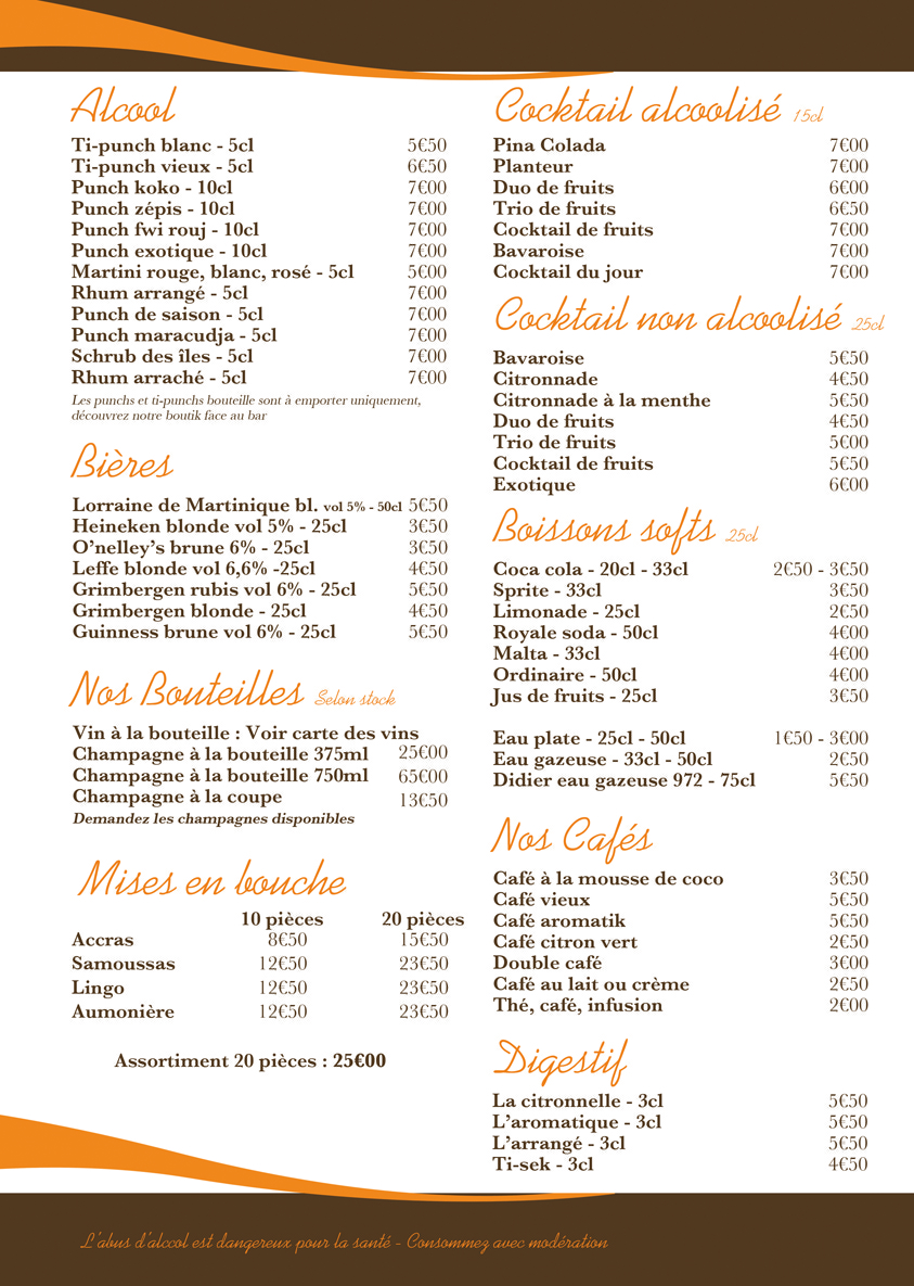 Page 06 - Boissons - Menu 2013